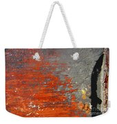 Red And Grey Abstract Weekender Tote Bag