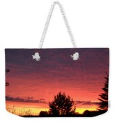 Red And Orange June Dawn Sky Weekender Tote Bag