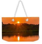 Red And Orange Jungle Sunset Weekender Tote Bag
