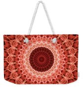 Red And Orange Mandala Weekender Tote Bag