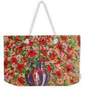 Red And Pink Poppies. Weekender Tote Bag