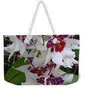 Red And Purple Orchids Weekender Tote Bag