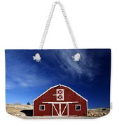 Red And White Barn Weekender Tote Bag