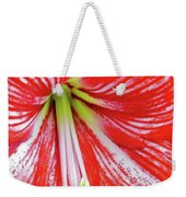Red And White Beauty Weekender Tote Bag