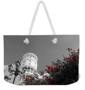 Red And White Contrast Weekender Tote Bag