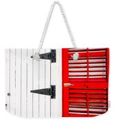 Red And White Entrance-nola Weekender Tote Bag