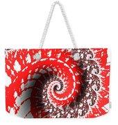 Red And White Fractal Weekender Tote Bag