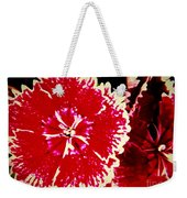Red And White Mum Weekender Tote Bag