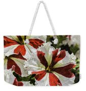 Red And White Petunia Weekender Tote Bag