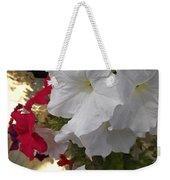Red And White Petunias Weekender Tote Bag