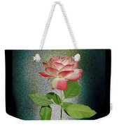 Red And White Rose5 Cutout Weekender Tote Bag