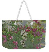 Red And White Roses  Medium Toned Abstract Weekender Tote Bag