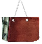 Red And White Stripe Weekender Tote Bag