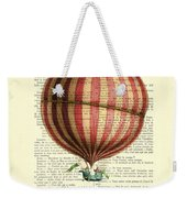 Red And White Striped Hot Air Balloon Antique Photo Weekender Tote Bag