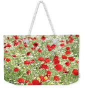 Red And White Wild Flowers Spring Scene Weekender Tote Bag