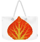 Red And Yellow Aspen Leaf 10 Weekender Tote Bag