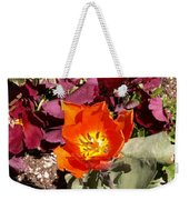 Red And Yellow Flower Weekender Tote Bag