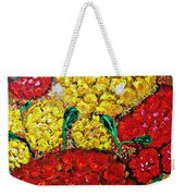 Red And Yellow Garden Weekender Tote Bag