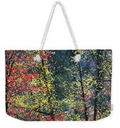 Red And Yellow Leaves Abstract Vertical Number 2 Weekender Tote Bag