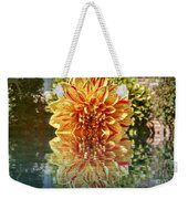 Red And Yellow Reflection Weekender Tote Bag