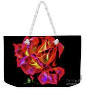 Red And Yellow Rose Fractal Weekender Tote Bag