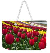 Red And Yellow Tulip Fields Weekender Tote Bag
