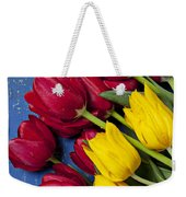 Red And Yellow Tulips Weekender Tote Bag