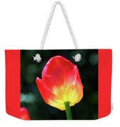 Red And Yellow Tulip - Photopainting Weekender Tote Bag