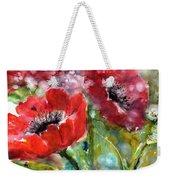 Red Anemone Flowers Weekender Tote Bag