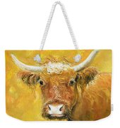 Red Angus Cow Weekender Tote Bag