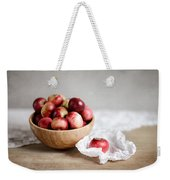 Red Apples Still Life Weekender Tote Bag