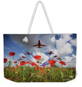 Red Arrows Poppy Fly Past Weekender Tote Bag