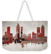 Red Atlanta Georgia Skyline Weekender Tote Bag