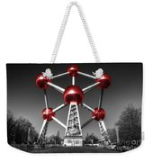 Red Atomium Weekender Tote Bag