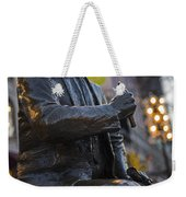 Red Auerbach Chilling At Fanueil Hall Side Weekender Tote Bag