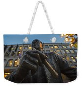 Red Auerbach Chilling At Fanueil Hall Weekender Tote Bag