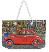 Red Morris Minor Weekender Tote Bag
