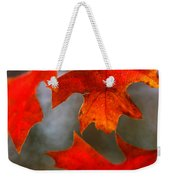 Red Autumn Leaves Weekender Tote Bag