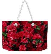 Red Azalea Blooms Weekender Tote Bag