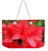 Red Azaleas Weekender Tote Bag