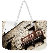 Red Balcony Weekender Tote Bag