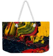 Red Balloon In The Storm Weekender Tote Bag