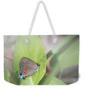 Red-banded Hairstreak Butterfly Weekender Tote Bag