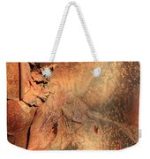 Red Bark Nature Abstract Weekender Tote Bag