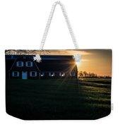 Red Barn At Sunset Weekender Tote Bag