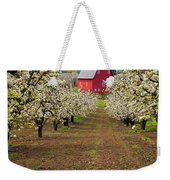 Red Barn Avenue Weekender Tote Bag by Mike  Dawson