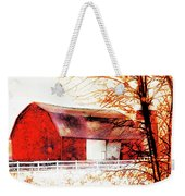 Red Barn Weekender Tote Bag