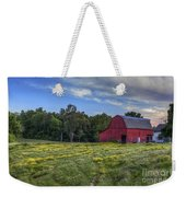 Red Barn In A Yellow Field  Weekender Tote Bag