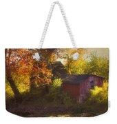 Red Barn In Autumn Weekender Tote Bag