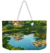 Red Barn In Kennebunkport Me Weekender Tote Bag